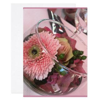 Floral chart dahlia card