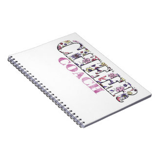 Floral cheer coach Notebook