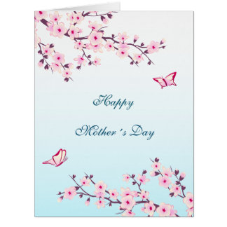 Floral Cherry Blossom Happy Mother´s Day Card