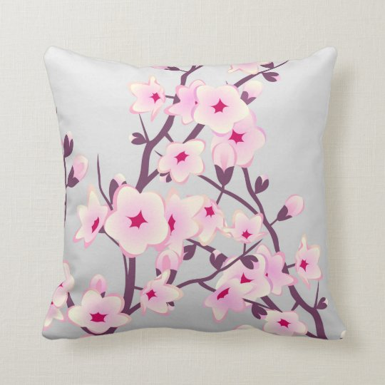 Floral Cherry Blossom Pillow