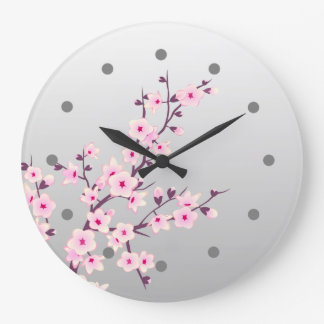 Floral Cherry Blossom Wall Clock