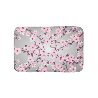 Floral Cherry Blossoms Bath Mat