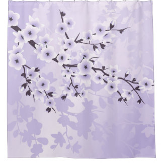 Floral Cherry Blossoms Classic Purple
