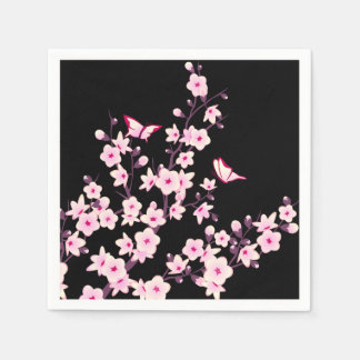 Floral Cherry Blossoms Disposable Napkins