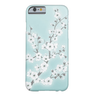 Floral Cherry Blossoms Mint White Barely There iPhone 6 Case