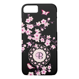 Floral Cherry Blossoms Monogram iPhone 8/7 Case