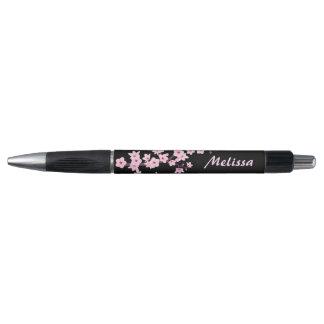 Floral Cherry Blossoms Monogram Pen