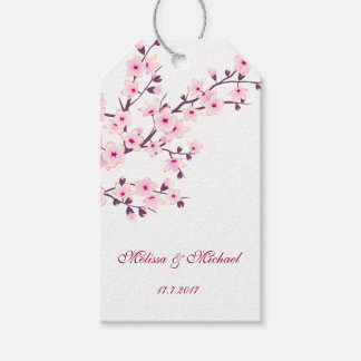 Floral Cherry Blossoms Pack Of Gift Tags