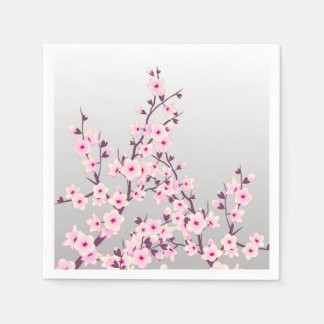 Floral Cherry Blossoms Paper Napkin