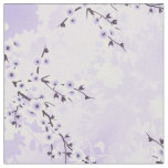 Floral Cherry Blossoms Sakura  Purple Fabric
