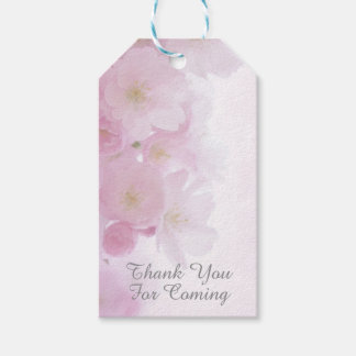 Floral Cherry Blossoms Thank You for Coming Gift Tags
