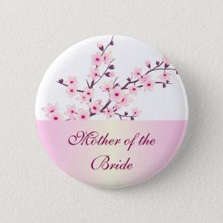 Floral Cherry Blossoms Wedding 2 Inch Round Button