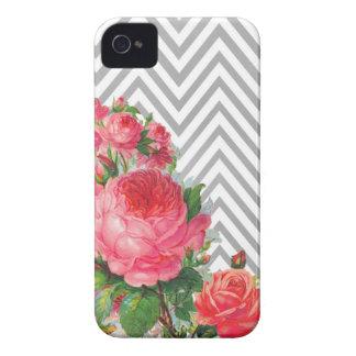 Floral Chevron Case Mate  iPhone 4 Case