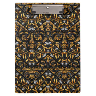 Floral Chevron Paisley Filigree ZigZag Flowers Clipboard