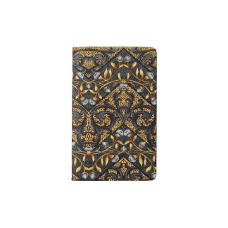 Floral Chevron Paisley Filigree ZigZag Flowers Pocket Moleskine Notebook