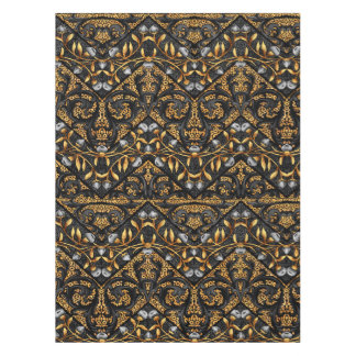 Floral Chevron Paisley Filigree ZigZag Flowers Tablecloth