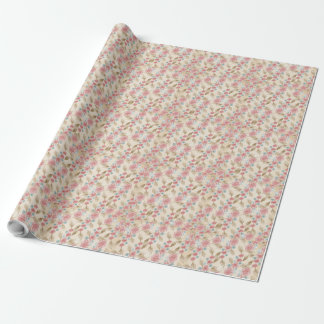 Floral Chic Cream and Pink Gift Wrap