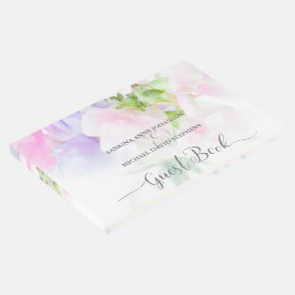 FLORAL CHIC WEDDING SWEET PEAS GUEST BOOK
