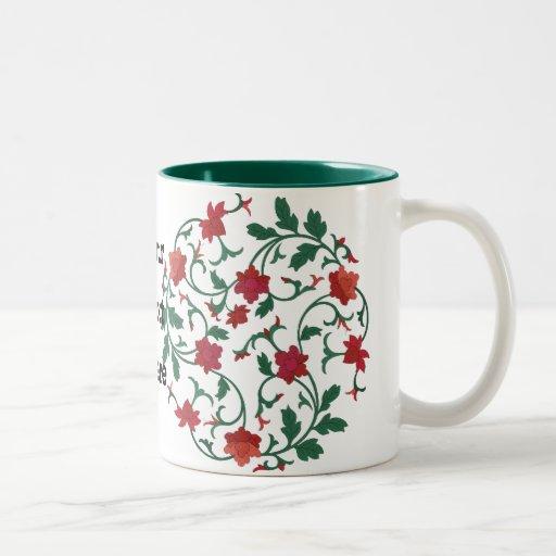 floral chinois mug bicolore
