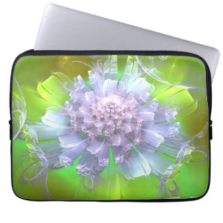 Floral Chrysanthemum Fractal Medium Laptop Sleeve