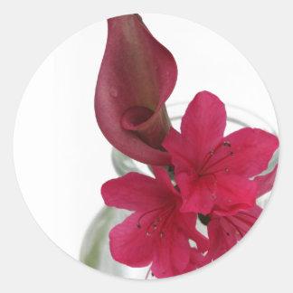 floral classic round sticker