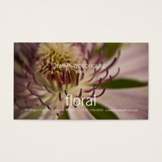 Floral - Clematis Business Card