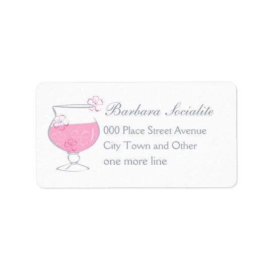 Floral Cocktail Label