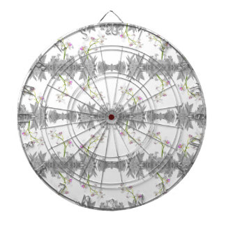 Floral Collage Pattern Dartboard