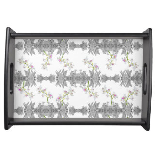 Floral Collage Pattern Serving Tray