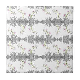 Floral Collage Pattern Tile