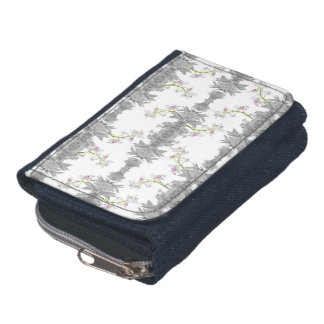 Floral Collage Pattern Wallets