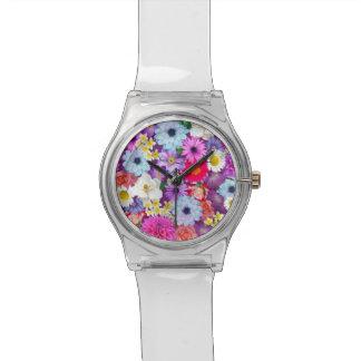 Floral Collage Wristwatch