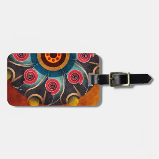 Floral Color Abstract Vector Art Luggage Tag