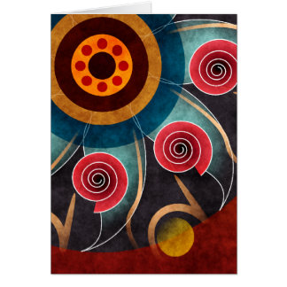 Floral Color Abstract Vector Art Note Card