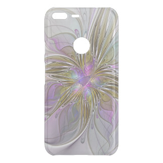Floral Colorful Abstract Fractal With Pink & Gold Uncommon Google Pixel XL Case