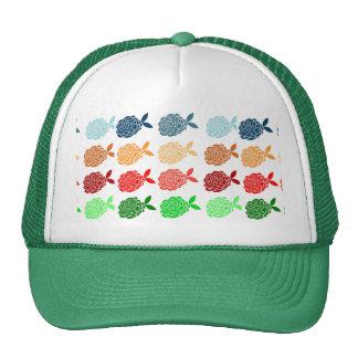 Floral coloroful pattern elegant chic modern cute trucker hat