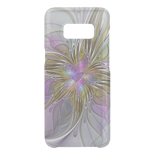 Floral Colourful Abstract Fractal With Pink & Gold Uncommon Samsung Galaxy S8 Case