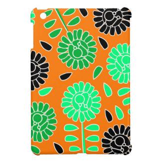 floral contrast orange iPad mini covers