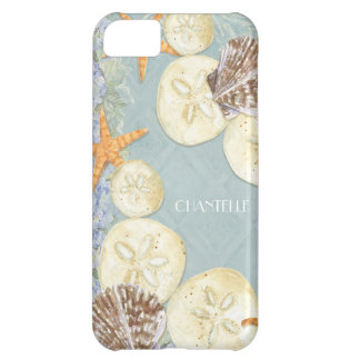 Floral Cottage by the Sea Shells Beachy Name iPhone 5C Case