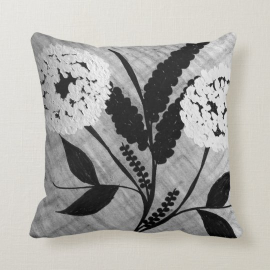 Floral cotton throw pillow. throw pillow