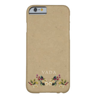 Floral Country Monogram Barely There iPhone 6 Case
