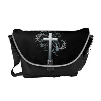 Floral Cross Messenger Bags