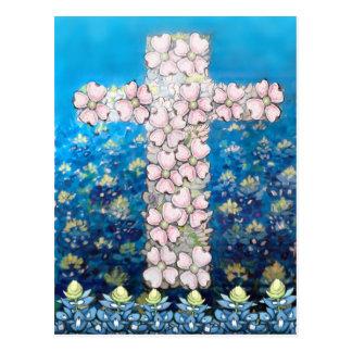 Floral Cross Postcard