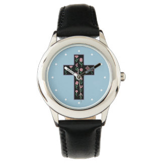 Floral Cross Wrist Watches