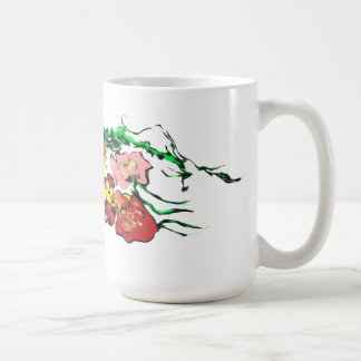 floral cup classic white coffee mug