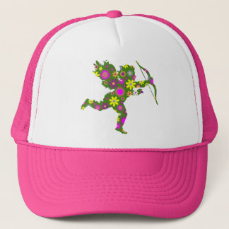 FLORAL CUPID TRUCKER HAT