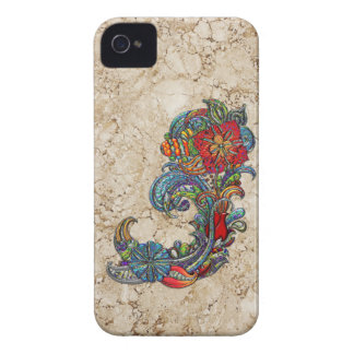 Floral Curls Abstract Modern Art Case-Mate iPhone 4 Case