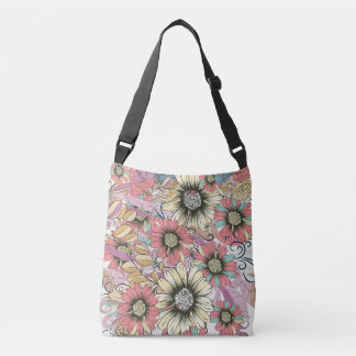 Floral Custom All-Over-Print Cross Body Bag