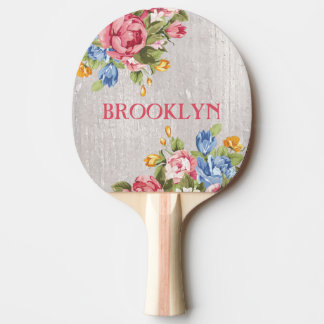 Floral Custom Personalized Ping Pong Paddle