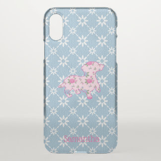 Floral Dachshund iPhone X Clearly™ Deflector Case